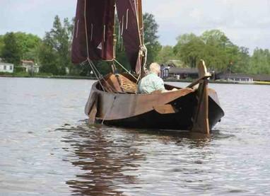 zeilen, punteren, varen in Giethoorn